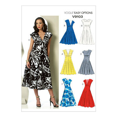 VOGUE SEWING PATTERN V9103 9103 Misses Dress Easy Options Vogue NEW ... 6a5543665bbe