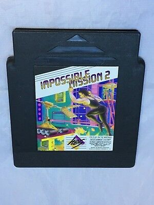 Impossible Mission II Nintendo NES Game Black Cartridge Only