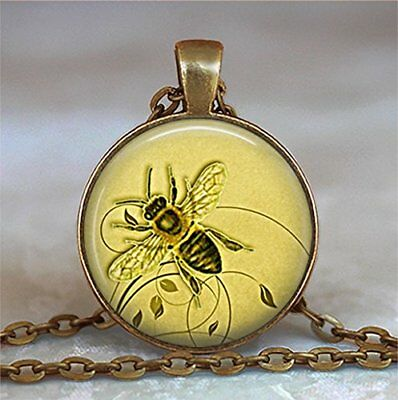 Honeybee Pendant, Honey Bee Necklace Honey Bee Jewelry Beekeeper Gift Apiarist