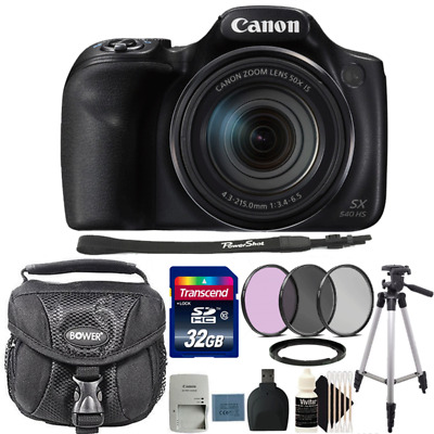 Canon Powershot SX540 HS 20.3MP Digital Camera with 32GB Deluxe Accessory Kit