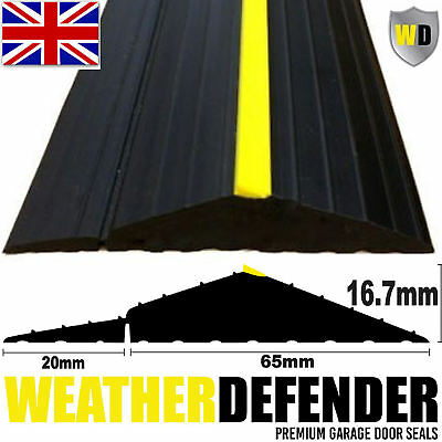 Genuine WD WEATHER DEFENDER Garage Door Floor Seal Draught Excluder & Adhesive