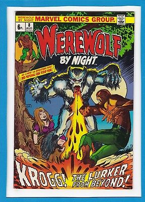 "Werewolf By Night #8_Aug 1973_Fine Minus_""krogg, Lurker From Beyond""uk Variant!"