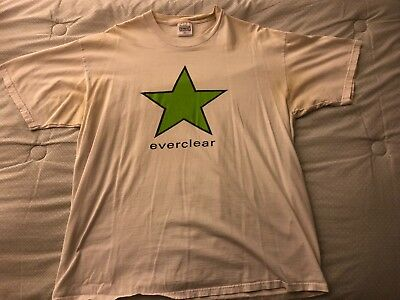 vintage everclear rock band shirt star portland oregon 90s original XL