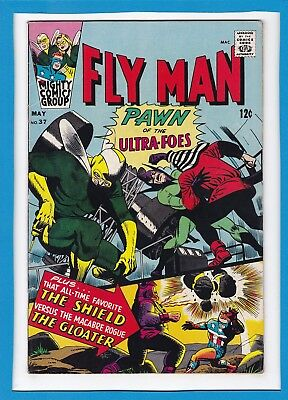 "Fly Man #37_May 1966_F/vf_The Shield_""pawn Of The Ultra-Foes""_Mighty Comics!"
