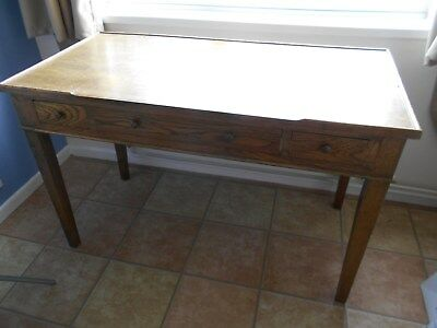 Lovely Vintage dark wood writing desk with drawers - good used condition