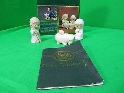 """PRECIOUS MOMENTS """"THE NATIVITY"""" IN BOX w/ Storybook  #.142743"""