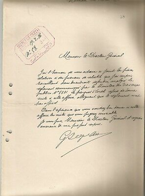 EGYPT ÄGYPTEN 1896 RARE LETTER SIGNED BY FRANCE Georges Legrain