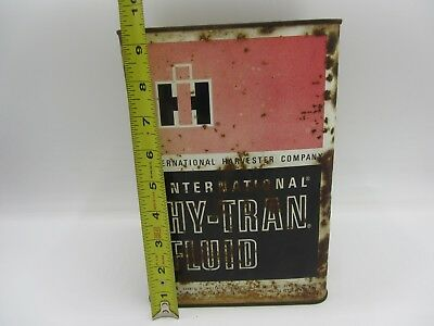 Vintage International Harvester Ih Hy-Tran Gallon Oil Metal Litho Can Farm-All