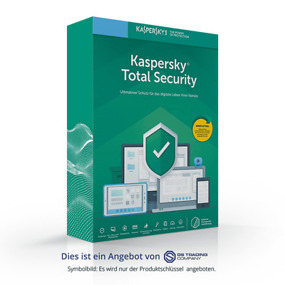 Kaspersky Total Security Multi-Device, 2019, 1 Gerät 1 Jahr, NEU