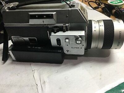 CANON 814 Auto Zoom Super 8 Camera w/case -From Vietnam with Footage!-TESTED-