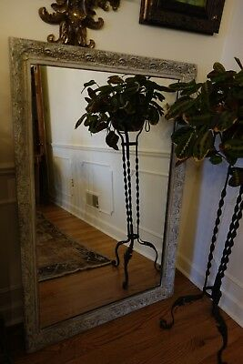 "Antique Ornate French Baroque Large Wall Mirror 35.5"" x 53"""
