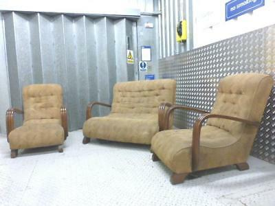 ART DECO 3 Piece Suite - SOFA and a pair of chairs - Superb design. All Original