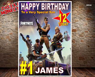 Fortnite Personalised Birthday Card Any Nameage Fast Delivery Card