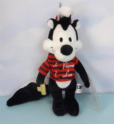 "PEPE LE PEW ""LE PRISONER OF LOVE"" Beanbag Doll LOONEY TUNES"