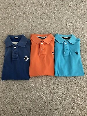 Lot Of 3 Mens Abercrombie & Fitch Polo Shirts Size Large