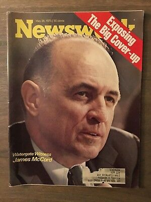 Newsweek Magazine Vintage Back Issue 1973 May 28 Watergate James Mccord