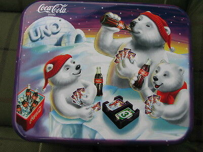 Coca Cola Uno Card Game With Collectible Tin** Cards Sealed** Brand New