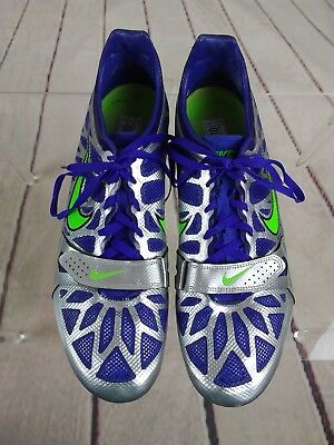 909705f175e2f Nike Size 10 Men s Track And Field Shoes Blue And Silver