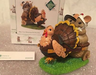 """Charming Tails """"MAY YOUR BLESSINGS BE BOUNTIFUL"""" DEAN GRIFF NIB THANKSGIVING"""