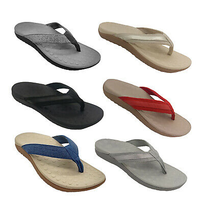 Ladies Shoes Lorella Sun Orthotic Thong 6 colours Arch Support Sizes 5-12 NEW