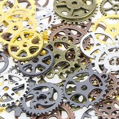 68 Pieces Lot of Vintage Steampunk Wrist Watch Old Parts Gears Wheels Steam Punk