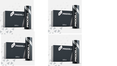40 X Duracell AA Industrial Battery MN1500 Alkaline Replaces Procell Expiry 2023