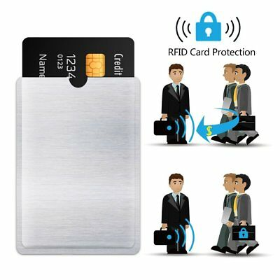 10 X For RFID Secure Protector Blocking ID Credit Card Sleeves Holder Case ZEI