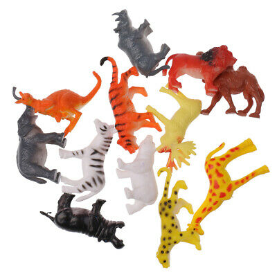Colorful Small Figures Plastic Realistic Wild Fram Ocean Animals Model Toys