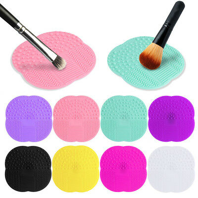 8 Colors Women Makeup Brush Scrubber Board Cleaner Pad Cleaning Mat Washing NEW
