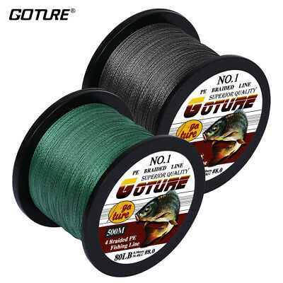 Goture 500M Braided Fishing Line 4 Strands Multifilament Saltwater Line