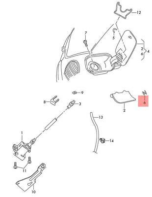 Genuine Filler Piece Right OEM VW Beetle Cabrio Cabriolet Bettle  1C0823730A