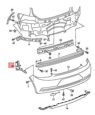 Genuine Vw Scirocco Adapter Wiring Set For Seat Base 1k8971391ab