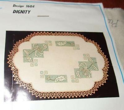 "UNWORKED  "" DIGNITY "" MYART RUNNER-DOILY to EMBROIDER~#1604~12"" X 39"""
