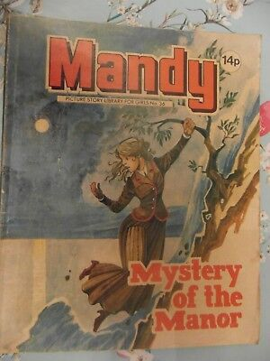 1981  MANDY picture library for girls  No.36 -  Mystery of the Manor