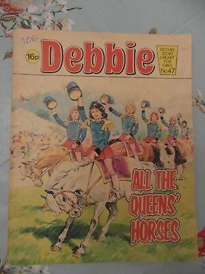 1982  DEBBIE picture library for girls  No.47 -  All the Queens Horses