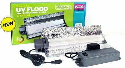 Arcadia Parrot Pro Uv Flood 24W Power Compact Lamp 2.4% Uvb Bird Light Tube