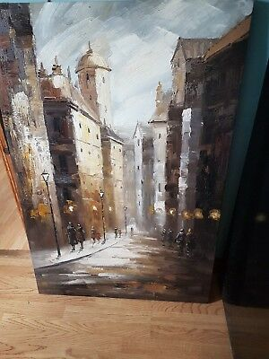 oil painted canvas picture