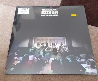 The National Boxer Live In Brussels Clear Vinyl LP RSD 2018 New & Sealed