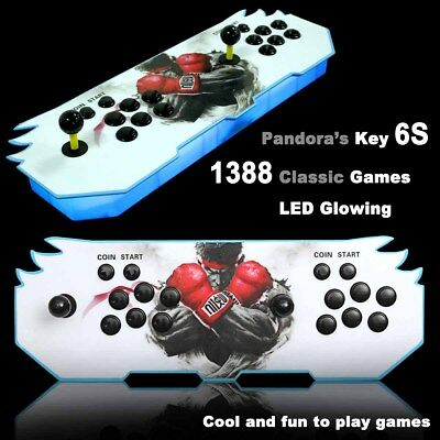 1388 ALL IN 1 Games Pandora's Key 6s LED Arcade Console Double Stick Game Box AU