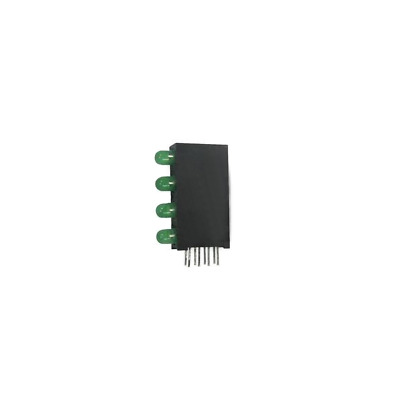 2x L-710A8SB/4GD Diode LED in housing No.of diodes4 3mm THT green 8-25mcd