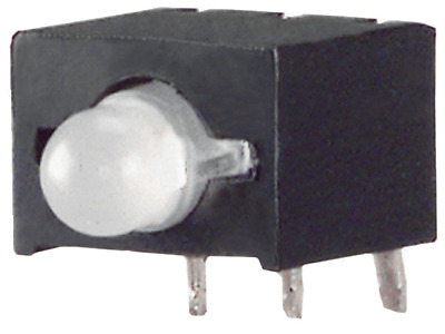 8x L-130WDT/1EGW Diode LED in housing bicolour 3mm THT red/green 40mcd