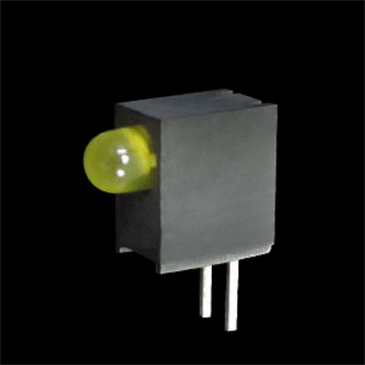 5x L-7104EW/1YD Diode LED in housing No.of diodes1 3mm THT yellow 5-15mcd