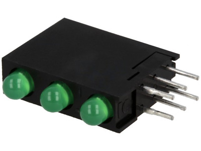 4x L-710A8SA/3GD Diode LED in housing No.of diodes3 3mm THT green 8-20mcd