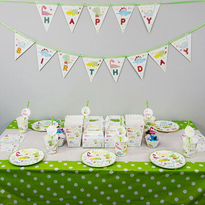 Dinosaur Theme Birthday Party Decoration Tableware Range (Plates Cup Banner etc)