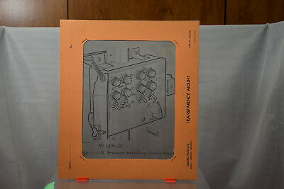 Vintage Avro CF-100 Aircraft Training Transparency - RCAF - Refuelling Panel  #2