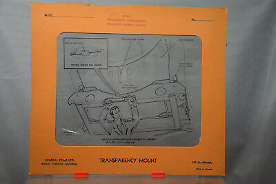 Vintage Avro CF-100 Aircraft Training Transparency - RCAF - Armament Package