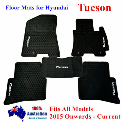Waterproof Rubber Floor Mats Tailor Made For Hyundai Tucson 2015 - 2018 Current
