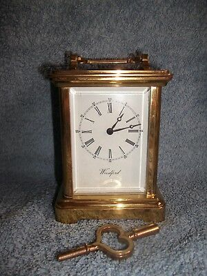 Woodford 8 day brass cased chiming carriage clock - WO