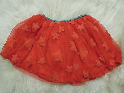 New Mini Boden tulle red stars skirt 9-10Y NWOT
