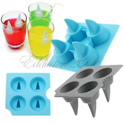 Raffreddare Shark Fin Shape Ice Tray Ice Cube Freeze Ice Stampo Stampo a matrice